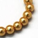 Viaszgyöngy-40 (Ø 14 mm/15 db) - arany, Gyöngy, ékszerkellék,  Viaszgyöngy-40 - arany  Méret: Ø 14 mmFurat: 1 mm  A csomag tartalma: 15 db viaszgyöngy  Az ár..., Alkotók boltja