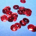 Flitter-4 (3 g) - piros (kerek), Gyöngy, ékszerkellék, Varrás,  Flitter-4 - piros - kerek  Mérete: Ø 6-7 mmA furat mérete: 1 mm  Kiszerelés: 3 g (kb. 210 db) Töb..., Alkotók boltja