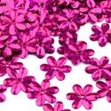 Flitter-47 (3 g) - hologramos ciklámen (virág), Gyöngy, ékszerkellék, Varrás,  Flitter-47 - hologramos ciklámen - virág  Mérete: Ø 14 mmA furat mérete: 1 mm  Kiszerelés: 3 g (k..., Alkotók boltja