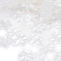 Flitter-49 (3 g) - átlátszó (virág), Gyöngy, ékszerkellék, Varrás,  Flitter-49 - átlátszó - virág  Mérete: Ø 14 mmA furat mérete: 1 mm  Kiszerelés: 3 g (kb. 100 db) ..., Alkotók boltja