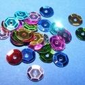 Flitter-9 (3 g) - mix (kerek), Gyöngy, ékszerkellék, Varrás,  Flitter-9 - mix - kerek  Mérete: Ø 6-7 mmA furat mérete: 1 mm  Kiszerelés: 3 g (kb. 210 db) Többf..., Alkotók boltja