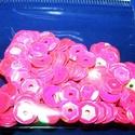 Flitter-6 (3 g) - pink (kerek), Gyöngy, ékszerkellék, Varrás,  Flitter-6 - pink - kerek  Mérete: Ø 6-7 mmA furat mérete: 1 mm  Kiszerelés: 3 g (kb. 210 db) Több..., Alkotók boltja