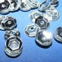 Flitter-3 (3 g) - ezüst (kerek), Gyöngy, ékszerkellék, Varrás,  Flitter-3 - ezüst - kerek  Mérete: Ø 6-7 mmA furat mérete: 1 mm  Kiszerelés: 3 g (kb. 210 db) Töb..., Alkotók boltja
