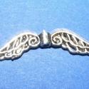 Angyalszárny (500. minta/1 db), Gyöngy, ékszerkellék,  Angyalszárny (500. minta) - antik ezüst színben  Mérete: 32x6 mmVastagsága:2,5 mmFurat: 1 mm  ..., Alkotók boltja