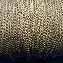 Bronz színű lánc (59/A minta/1 m) - 2,5x3,5x0,6 mm, Gyöngy, ékszerkellék,  Bronz színű lánc (59/A minta) - nikkel-, ólom- és kadmiummentes  A szem mérete: 2,5x3,5x0,6 m..., Alkotók boltja