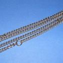 Szerelt lánc (10. minta/1 db) - 7,5x5,5x1,5 mm (erős), Gyöngy, ékszerkellék,  Szerelt lánc (10. minta) - antik bronz színben - extra erős- nikkelmentes -   A szem mérete: 7,5x5,..., Alkotók boltja