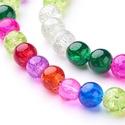 Robbantott üveggyöngy-16 (8 mm/1 csomag) - mix, Gyöngy, ékszerkellék,  Robbantott üveggyöngy-16 - vegyes színek  Mérete: 8 mmFurat: 1,3-1,6 mm    A csomag tartalma: kb...., Alkotók boltja