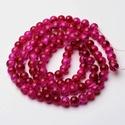 Robbantott üveggyöngy-18 (8 mm/1 csomag) - rubin/pink, Gyöngy, ékszerkellék, Alkotók boltja