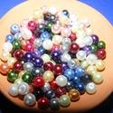 Viaszgyöngy-50 (Ø 6 mm/~ 150 db) - mix, Gyöngy, ékszerkellék, Gyöngy,  Viaszgyöngy-50 - vegyes színek  Méret: Ø 6 mmFurat: 1 mm  A csomag tartalma: kb. 150 db viaszgyöng..., Alkotók boltja