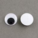 Rezgőszem (8 mm/20 db) - kerek, Figurák,  Rezgőszem - ragasztható - kerek  Mérete: 8 mmMagassága: 3 mm Többféle méretben rendelhető.Az ár 20 ..., Alkotók boltja