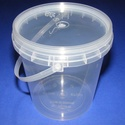 Műanyag vödör (1 db) - 870 ml, Csomagolóanyag, Mindenmás,   Műanyag vödör  Praktikus, többfunkciós áttetsző műanyag vödör.Megbízható tárolást biztosít szilár..., Alkotók boltja