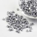 Szögletes gyöngy (12. minta/15 g) - metál ezüst, Gyöngy, ékszerkellék, Gyöngy,  Szögletes gyöngy (12. minta) - metál ezüst  Kiszerelés: 15 g (kb. 160 db gyöngy)  A gyöngyszem mér..., Alkotók boltja