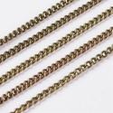 Bronz színű lánc (48. minta/1 m) - 2x3x0,6 mm, Gyöngy, ékszerkellék,  Bronz színű lánc (48. minta)  A szem mérete: 2x3x0,6 mm  A feltüntetett ár 1 méter láncra v..., Alkotók boltja