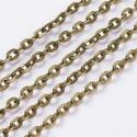 Bronz színű lánc (6. minta/1 m) - 4,1x3x0,8 mm, Gyöngy, ékszerkellék,  Bronz színű lánc (6. minta)  A szem mérete: 4,1x3x0,8 mm  A feltüntetett ár 1 méter láncra ..., Alkotók boltja
