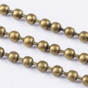 Golyós lánc - 2 mm (39. minta/1 m) - bronz , Gyöngy, ékszerkellék,  Golyós lánc (39. minta) - bronz színben  A szem mérete: 2 mm  A feltüntetett ár 1 méter lán..., Alkotók boltja