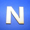 Fa betű (45x35 mm/1 db) - N, Fa, Egyéb fa,  Fa betű - N    Mérete: 45x35 mmAnyaga: natúr rétegelt lemezAnyagvastagság: 3 mm Az ár egy darab ..., Alkotók boltja