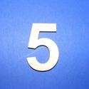 Fa szám (45x35 mm/1 db) - 5, Fa,  Fa szám - 5    Mérete: 45x35 mmAnyaga: natúr rétegelt lemezAnyagvastagság: 3 mm Az ár egy darab t..., Alkotók boltja