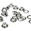 Fém ringli (Ø 8 mm/10 pár) - platinum, Csat, karika, zár,   Fém ringli - platinum színben   A csomag tartalma: 1 pár platinum színű fém ringli (egy ring..., Alkotók boltja