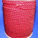 Sodrott zsinór - 5 mm (ZS53S/1 m) - skarlátpiros, Gyöngy, ékszerkellék, Ékszerkészítés,  Sodrott zsinór (ZS53S) - skarlátpiros  Színes nylon sodrott zsinórAjánlott karkötők, nyakláncok ké..., Alkotók boltja