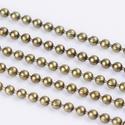 Golyós lánc - 1,5 mm (39/A minta/1 m) - bronz, Gyöngy, ékszerkellék,  Golyós lánc (39/A minta) - bronz színben    A szem mérete: 1,5 mm    A feltüntetett ár 1 mét..., Alkotók boltja