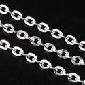 Ezüst színű lánc (31. minta/1 m) - 3x2x0,6 mm, Gyöngy, ékszerkellék,  Ezüst színű lánc (31. minta)  A szem mérete: 3x2x0,6 mm A feltüntetett ár 1 méter láncra ..., Alkotók boltja