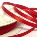 Szaténszalag (112. minta/1 m) - piros, Textil, Varrás,  Szaténszalag (112. minta) - piros  A szaténszalag selyem vagy szintetikus alapanyagból készülő, kü..., Alkotók boltja