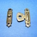 Doboz csat (15. minta/1 db) - bronz, Csat, karika, zár, Mindenmás,  Doboz csat (15. minta) - bronz színben  Mérete: 25x5 mm; 25x15 mm (füles rész) Az ár egy darab ter..., Alkotók boltja