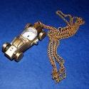 Ékszeróra (autó) - láncos, Órakészítés, Mindenmás,  Ékszeróra - autó - láncos - antik bronz színben  Az óra üzemképes, elemmel ellátott.  Mérete: 57x2..., Alkotók boltja