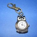 Ékszeróra (bagoly) - kulcstartós, Órakészítés, Mindenmás,  Ékszeróra - bagoly - kulcstartós - antik bronz színben  Az óra üzemképes, elemmel ellátott.  Méret..., Alkotók boltja