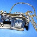Ékszeróra (varrógép) - láncos, Órakészítés, Mindenmás,  Ékszeróra - varrógép - láncos - antik bronz színben  Az óra üzemképes, elemmel ellátott.  Mérete: ..., Alkotók boltja