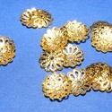 Gyöngykupak (22. minta/10 db) - 9 mm, Gyöngy, ékszerkellék, Egyéb alkatrész,  Gyöngykupak (22. minta) - arany színben  Mérete: 9x1 mm  Az ár 10 darab termékre vonatkozik. ..., Alkotók boltja