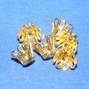 Gyöngykupak (31. minta/4 db) - 7 mm, Gyöngy, ékszerkellék, Egyéb alkatrész,  Gyöngykupak (31. minta) - arany színben  Mérete: 7 mm  Az ár 4 darab termékre vonatkozik.  , Alkotók boltja