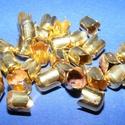Gyöngykupak (42. minta/4 db) - arany, Gyöngy, ékszerkellék, Egyéb alkatrész,  Gyöngykupak (42. minta) - arany színben  Mérete: 8x6 mm  Az ár 4 darab termékre vonatkozik  ..., Alkotók boltja