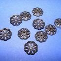 Gyöngykupak (6. minta/10 db) - 10 mm, Gyöngy, ékszerkellék, Egyéb alkatrész,  Gyöngykupak (6. minta) - antik bronz színben  Mérete: 10x2 mm  Az ár 10 darab termékre vonatko..., Alkotók boltja