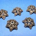 Gyöngykupak (K32. minta/2 db) , Gyöngy, ékszerkellék, Egyéb alkatrész,  Gyöngykupak (K32. minta) - bronz színben  KIFUTÓ TERMÉK!  Mérete: 16 mm  Az ár 2 darab termé..., Alkotók boltja