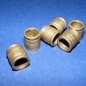 Cső-17/B (14x13 mm/1 db), Gyöngy, ékszerkellék, Ékszerkészítés,  Cső-17/E - antik bronz színben  Mérete: 14x13 mm (belül: 10 mm)  Az ár egy darab termékre vonatkoz..., Alkotók boltja