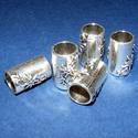 Cső-18/E (19,5x13 mm/1 db), Gyöngy, ékszerkellék, Ékszerkészítés,  Cső-18/E - antik ezüst színben  Mérete: 19,3x13 mm (belül: 10 mm)  Az ár egy darab termékre vonatk..., Alkotók boltja