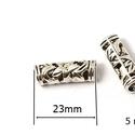 Cső-26 (23x8 mm/1 db), Gyöngy, ékszerkellék, Ékszerkészítés,  Cső-6 - antik ezüst színben  Mérete: 23x8 mm (belül: 5 mm)Furat: 8 mm Az ár egy darab termékre von..., Alkotók boltja