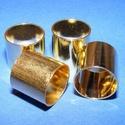 Cső-8/A (13x14 mm/1 db), Gyöngy, ékszerkellék,  Cső-8/A - arany színben  Mérete: 13x14 mm (belül: 13 mm)  Az ár egy darab termékre vonatkozik..., Alkotók boltja
