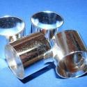 Cső-9 (16x18 mm/1 db), Gyöngy, ékszerkellék,  Cső-9 - ezüst színben  Mérete: 16x18 mm (belül: 17 mm)  Az ár egy darab termékre vonatkozik...., Alkotók boltja