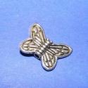 Köztes (579. minta/1 db) - pillangó, Gyöngy, ékszerkellék,  Ezüst színű köztes (579. minta) - pillangó  Mérete: 15x11 mm  Az ár 1 darab termékre vonatk..., Alkotók boltja