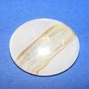 Mintás üveglencse-12 (25 mm/1 db), Gyöngy, ékszerkellék, Cabochon,  Mintás üveglencse-12   Színe: arany-fehér Méret: Ø 25 mm Használható a termékeim között..., Alkotók boltja