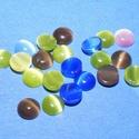 Macskaszem-10/A (Ø 5 mm/20 db) - kerek, vegyes színek, Gyöngy, ékszerkellék, Cabochon,  Macskaszem-10/A - kerek - vegyes színben  Mérete: Ø 5 mmMagassága: 2 mm Az ár 20 db macskasze..., Alkotók boltja