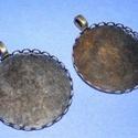 Medál alap (118/A minta/1 db), Gyöngy, ékszerkellék, Ékszerkészítés,  Medál alap (118/A minta) - kerek - antik bronz színben  A belső mérete: 30 mm  A medálba a termék..., Alkotók boltja