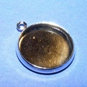 Medál alap (186/A minta/1 db), Gyöngy, ékszerkellék, Ékszerkészítés,  Medál alap (186/A minta) - kerek - ezüst színben  Mérete: 19x16x2 mmA belső mérete: 14 mm A medál..., Alkotók boltja
