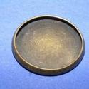 Ékszer alap (126/A minta/1 db), Gyöngy, ékszerkellék,  Ékszer alap (126/A minta) - kerek - antik bronz színben  Mérete: Ø 18 mmBelső méret: 16 mmAz ..., Alkotók boltja