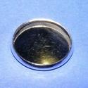 Ékszer alap (144. minta/1 db), Gyöngy, ékszerkellék,  Ékszer alap (144. minta) - kerek - ezüst színben  Mérete: 18 mmA belső mérete: 16 mmAz alapba..., Alkotók boltja