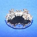 Ékszer alap (188. minta/1 db), Gyöngy, ékszerkellék,  Ékszer alap (188. minta) - kerek, csipkés - ezüst színben  Mérete: 17 mmA belső mérete..., Alkotók boltja