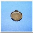 Ékszer alap (59/A minta/1 db), Gyöngy, ékszerkellék,  Ékszer alap (59/A minta) - kerek - antik bronz színben  Mérete: Ø 18 mmBelső átmérő: Ø 16,..., Alkotók boltja