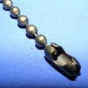 Golyóslánc kapocs (338/A minta/1 db) - 3-3,2 mm, Gyöngy, ékszerkellék, Alkotók boltja